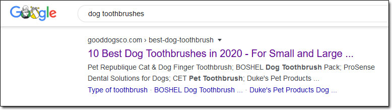 Dog Toothbrush Search Results