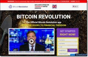 Bitcoin Revolution Software Website Screenshot