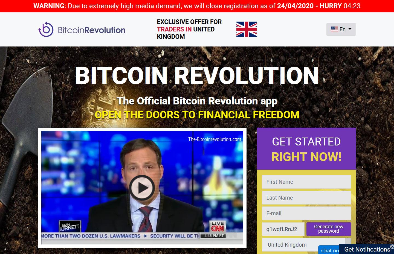 Bitcoin Revolution Website Screenshot