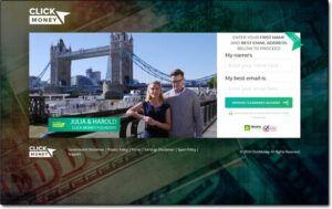 Click Money System Website Screenshot